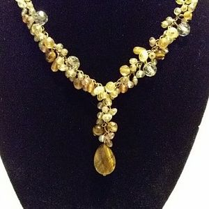 Tiger's eye multi beaded necklace